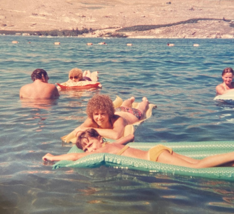 Kathy and Lori at Lake Chelan circa 1974