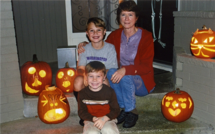 Kathy and her grandsons